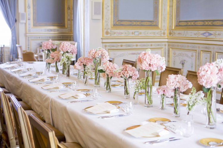 Wedding in Paris at the Shangri-la hotel