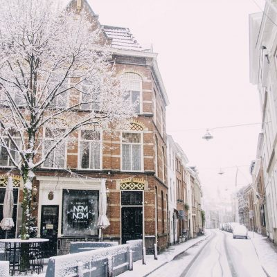 Den Bosch covered in snow 2017