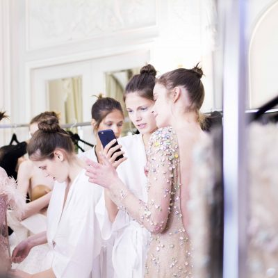 Backstage at Celia Kritharioti – Paris Couture Week
